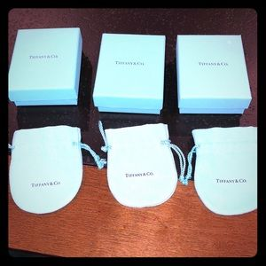Tiffany jewelry pouches & boxes